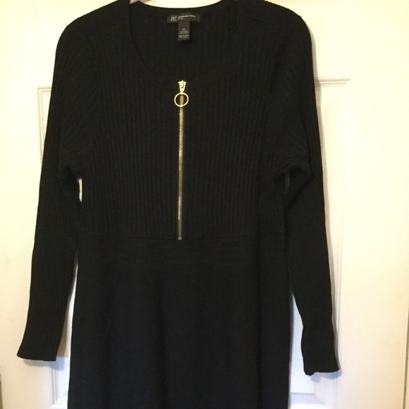 cd4bfa40d16 INC Women's Black Sweater Dress Plus Size 2X